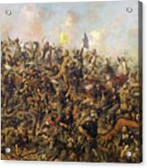 Custer's Last Stand From The Battle Of Little Bighorn Acrylic Print