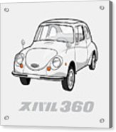 Custom Color Subaru 360 Acrylic Print