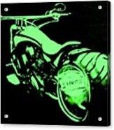 Custom Harley Davidson Teal Acrylic Print