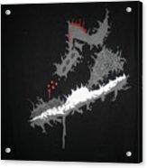 Custom Painted Jordan Cement 5 Tee Acrylic Print