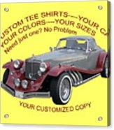 Custom Tee Shirts Acrylic Print