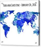 Custom World Map Acrylic Print