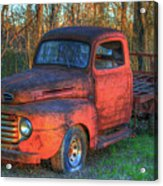 Customized Rust 1949 Ford Pickup Truck Acrylic Print