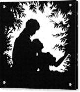 Cut-paper Silhouette Acrylic Print