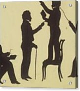 Cut Silhouette Of Four Full Figures 1830 Acrylic Print