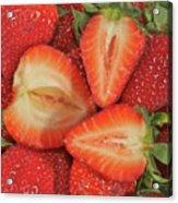 Cut Strawberries Acrylic Print