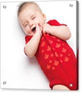 Cute Baby Boy Yawning Acrylic Print