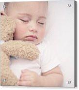 Cute Little Baby Sleeping Acrylic Print