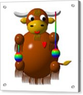Cute Yak With Yo Yos Acrylic Print