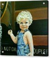 Cutie By The Train Acrylic Print