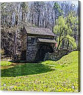 Cuttalossa Mill In The Springtime Acrylic Print