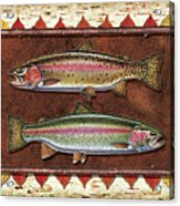 Cutthroat And Rainbow Trout Lodge Acrylic Print by JQ Licensing