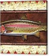 Cutthroat Trout Lodge Acrylic Print by JQ Licensing