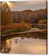 Cuyahoga Valley Autumn Sunset Acrylic Print