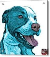 Cyan Bull Fractal Pop Art - 7773 - F - Wb Acrylic Print