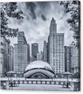 Cyanotype Anish Kapoor Cloud Gate The Bean At Millenium Park - Chicago Illinois Acrylic Print