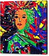Cyberspace Goddess Acrylic Print