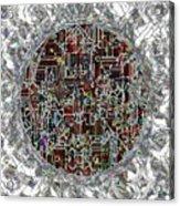 Cyborg Heart Acrylic Print