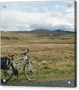Cycle Across The Beacons Cycle Route. Acrylic Print