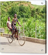 Cycling In Malawi Acrylic Print