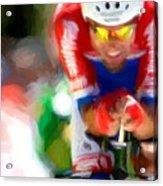 Cyclist Three Acrylic Print