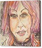 Cyndi Lauper Acrylic Print