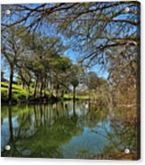 Cypress Bend Park Reflections Acrylic Print