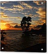 Cypress Bend Resort Sunset Acrylic Print