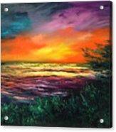 Cypress Sunset Acrylic Print