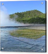D09127 Reflection In Grand Prismatic Spring Acrylic Print