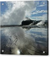 D09130-dc Cloud And Steam Reflect Acrylic Print