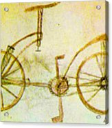 Da Vinci Inventions First Bicycle Sketch By Da Vinci Acrylic Print