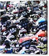 Harley-davidson Rally Acrylic Print