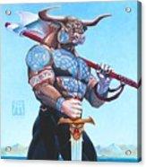 Daedalus Minotaur Of Crete Acrylic Print