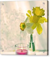 Daffodils And The Candle V3 Acrylic Print