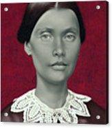 Daguerreotype Lady Detail Acrylic Print