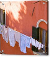 Daily Life In Venice Acrylic Print