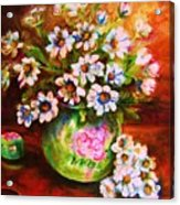 Daisies And Ginger Jar Acrylic Print