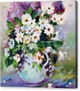 Daisies And Lilacs Acrylic Print