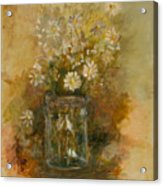 Daisies In A Jar Acrylic Print