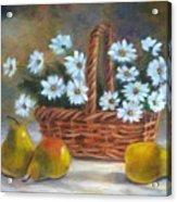 Daisies In Basket Acrylic Print