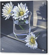 Daisies In Drinking Glass No. 2 Acrylic Print