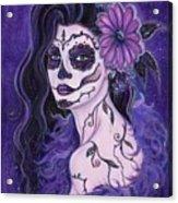 Daisy Day Of The Dead Acrylic Print