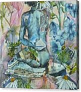 Daisy In The Garden Acrylic Print