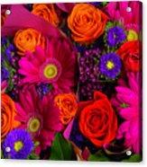 Daisy Rose Bouquet Acrylic Print