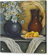 Daisy Stillife With Oranges Acrylic Print
