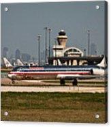 Dallas Airport And Skyline Acrylic Print