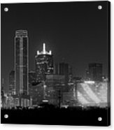 Dallas Bw Acrylic Print