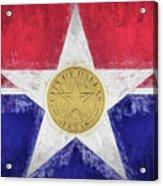 Dallas City Flag Acrylic Print