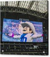 Dallas Cowboys Rowdy Acrylic Print